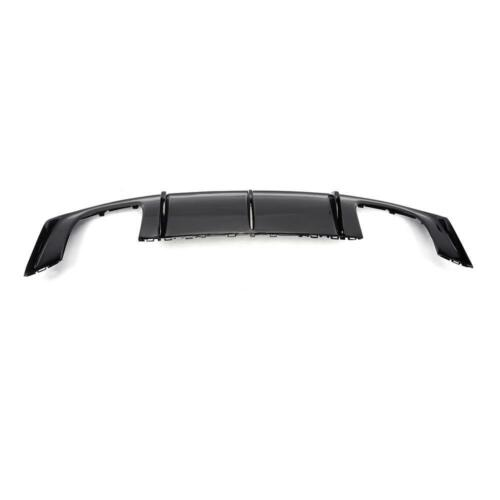 Rear Bumper Diffuser Lower Lip For Audi S3 2013-2016 Dual Exhaust Quad Outle FRP