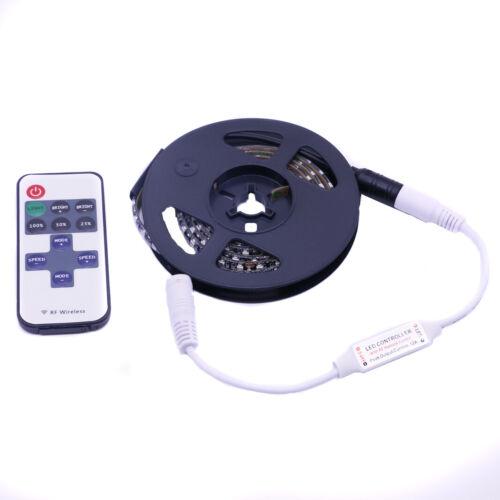 12V//24V 3528 1m 120LEDs Strip RED Waterproof Bar Kitchen Room Light RF Remote