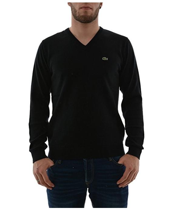 Lacoste Sport V-Neck Jersey Long Sleeve 100% cotton