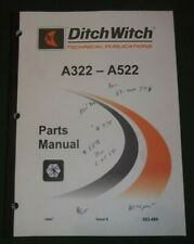 Ditch Witch A322 A422 A522 Backhoe Attacment Parts Manual Book Catalog