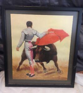 mid-century-modern-matador-Picture-Print-Signed-Tuser-Vazquez-Bull-Fighter