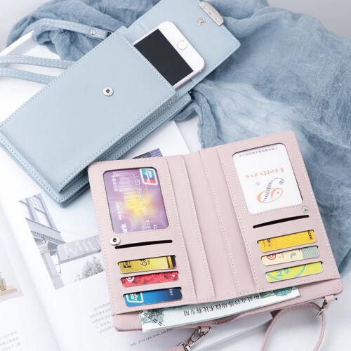 2 in1 Women Cell Phone Wallet Pocket Purse Shoulder Bags Pouch Handbag Crossbody