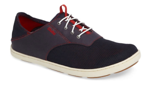Olukai-Nohea-Moku-Trench-Blue-Deep-Red-Loafer-Men-039-s-sizes-7-14-NEW
