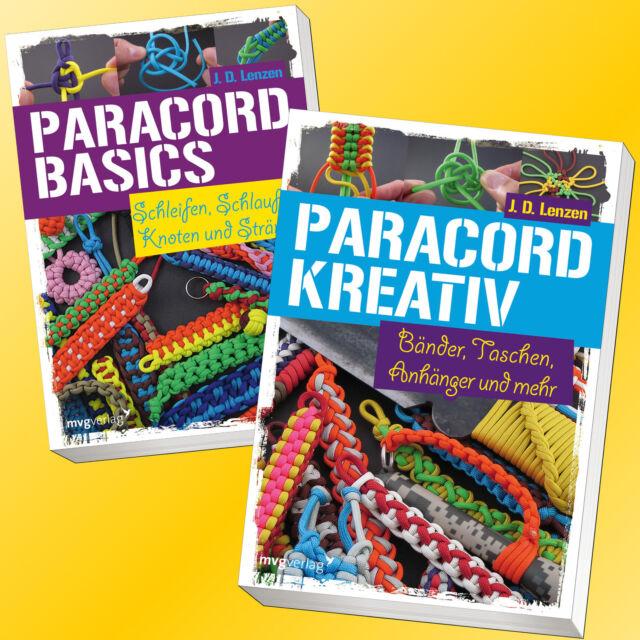 Set: PARACORD BASICS + KREATIV | BÄNDER, TASCHEN, ANHÄNGER mehr| JD Lenzen(Buch)