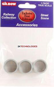 Strict Efe 99624 Konkret Pfeifen X 3 Grau 1/76th Maßstab = Nenngröße 00 Neu Packung Oo Scale Toys & Hobbies