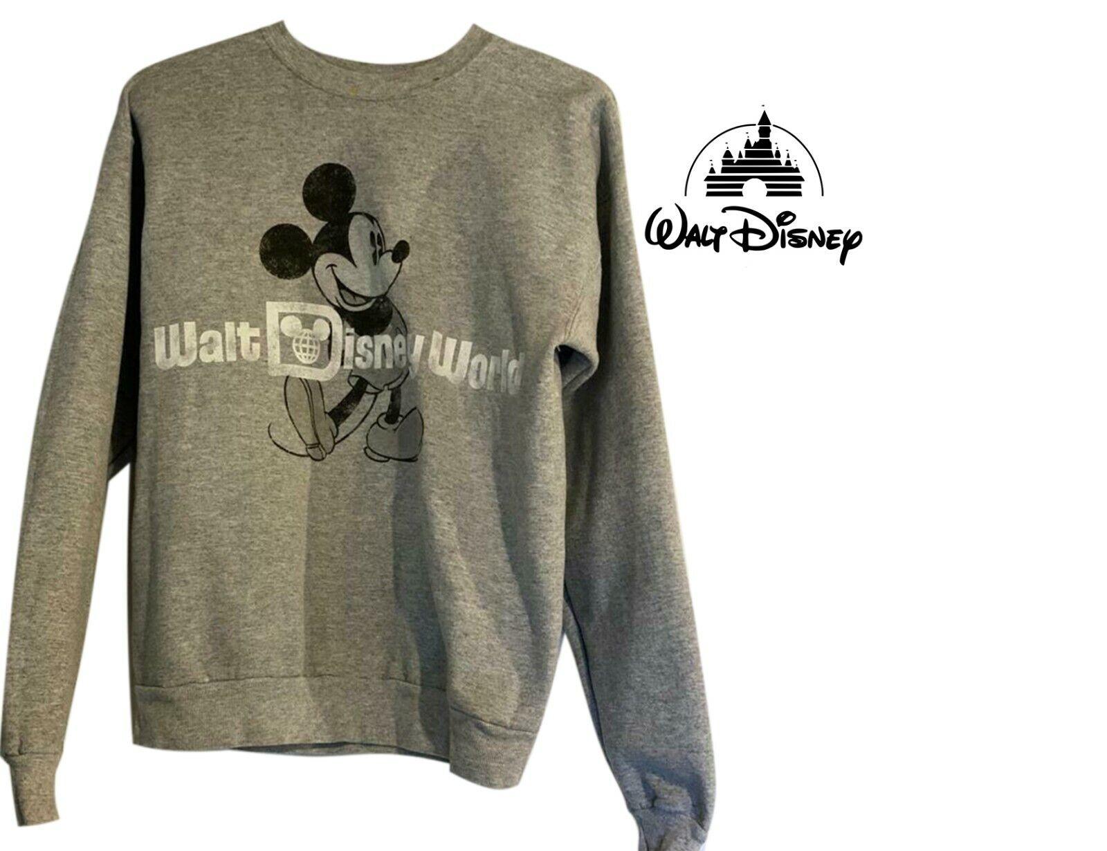Walt Disney Welt Grau Mickey Sweatshirt Hanes GRÖSSE