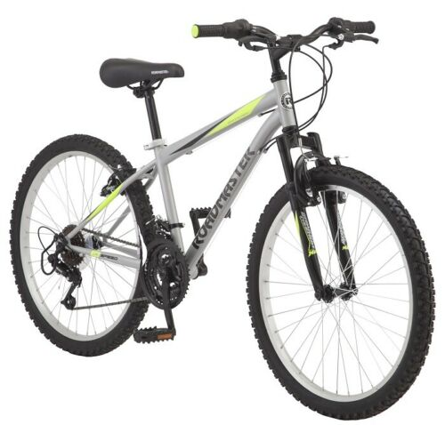 Mountain Bike 18 Speed 24 Inch Rugged Tires Roadmaster On and Off Road Bicycle