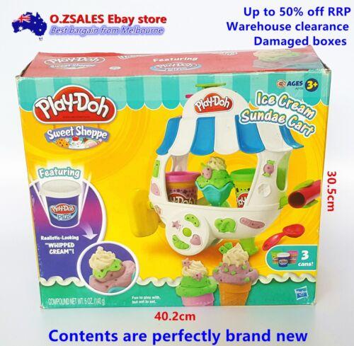 ORIGINAL HASBRO A2016 PLAY-DOH ICE CREAM SUNDAE CART  FOOD PROCESSING TOY