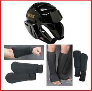 Taekwondo Sparring Gear Set Head Forearm Shin Instep Guards Tkd Pads Karate New