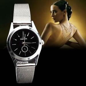 Fashion-Women-039-s-Stainless-Steel-Band-Quartz-Casual-Analog-Wrist-Watches-Gifts-XW