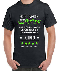 Fun Shirt Unbezahlbares Kind Mama Papa Tochter Sohn Mutter Vater