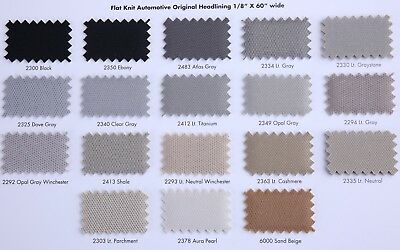 """Adhesive High Temperature 1//8 Foam Backed Flat Knit Headliner Fabric 60/"""" Wide"""