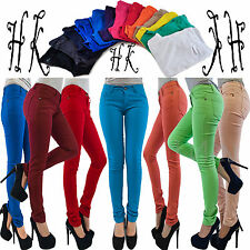 Womens Ladies Jeggings  Fit Skinny Coloured Stretchy Trousers Jeans Sizes 8-26