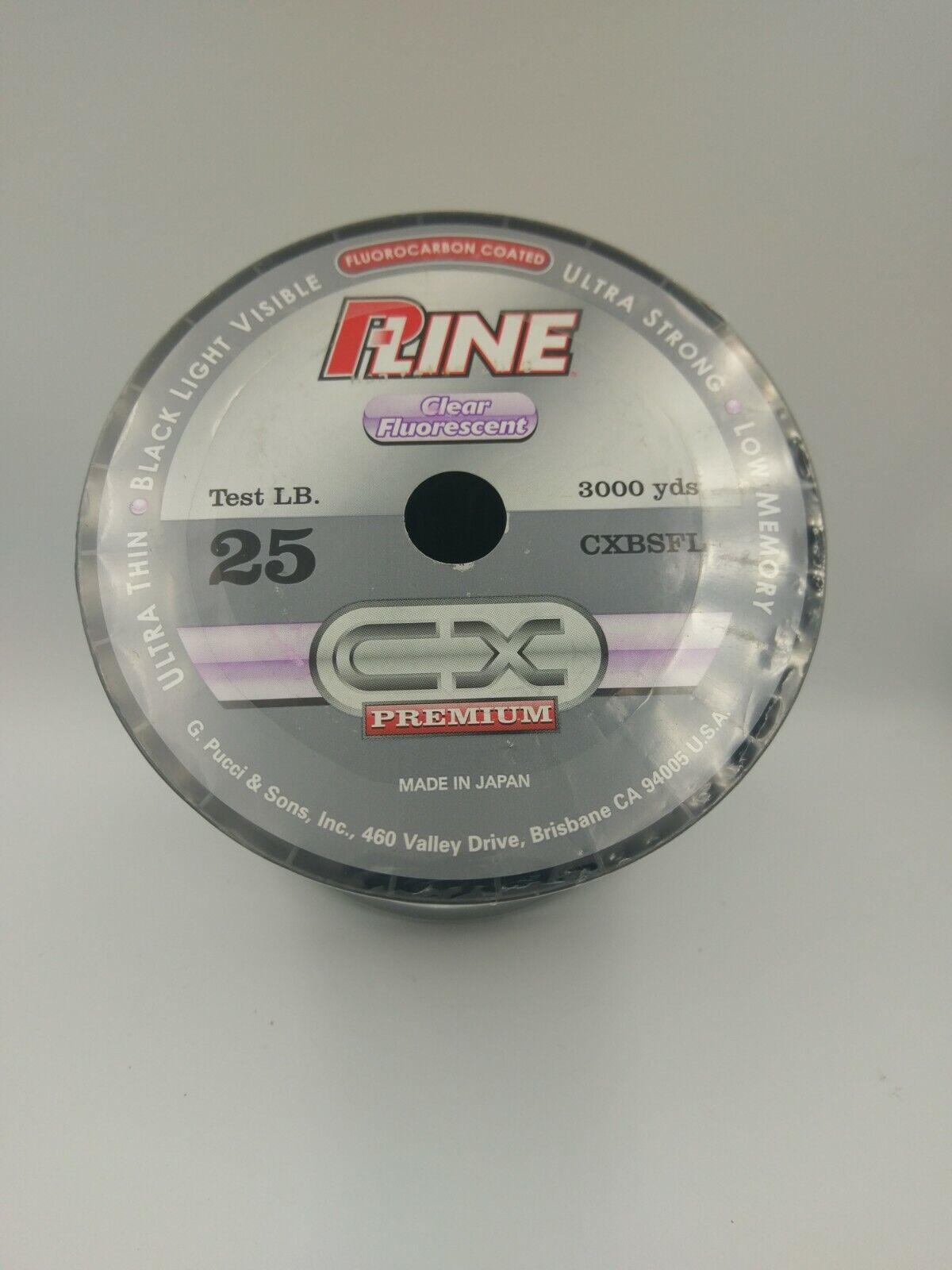 PLine CX Clear Fluorescent 25lb 3000yds Flugoldcarbon Coated