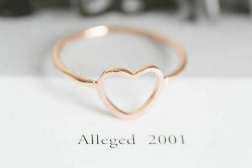 Anillo anillos dedo corazón vacío Heart amor Love Shiny filigrana minimal Boho