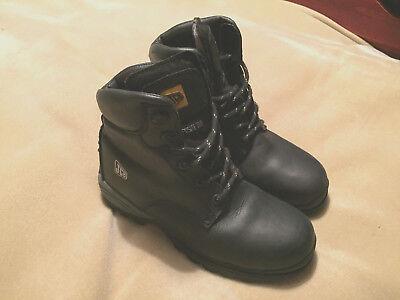 Jcb Workboots protegido Toes Talla 6 Negro Cuero gran condición apenas usado