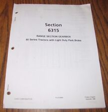 Case IH 985 885 785 685 585 485 Tractor Service Manual for Range Section Gearbox