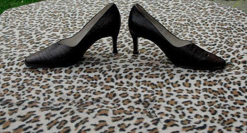 Brooke Uk de 4 marron Vintage Chaussures 37 Dal cuir cuir de crocodile 5 en Eu Van modle 5 7qq1wA