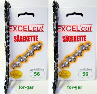 """Schwert 2 Ketten passend für Dolmar 105 35 cm 3//8/"""" 52 TG 1,3mm Sägekette chain"""