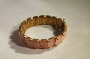 BEAUTIFUL-PALE-PINK-RECTANGULAR-BEADED-ELASTICATED-BRACELET
