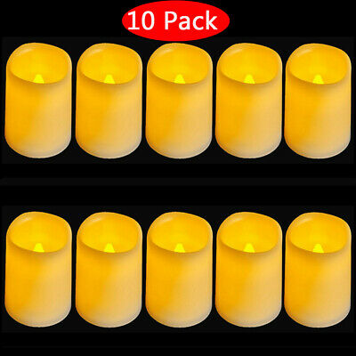 New Flickering Flameless Resin Pillar LED Candle Lights with 6 Hour Timer