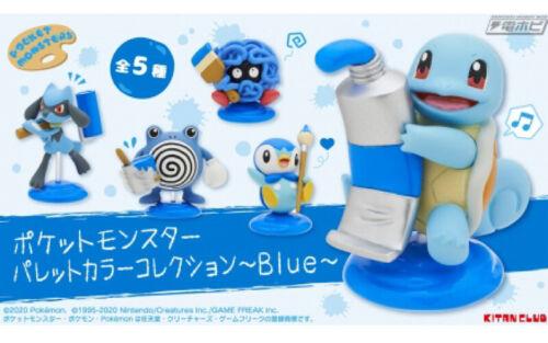 """Pokemon Mini Figure Set /""""Palette Color Collection Blue/"""" Japan"""