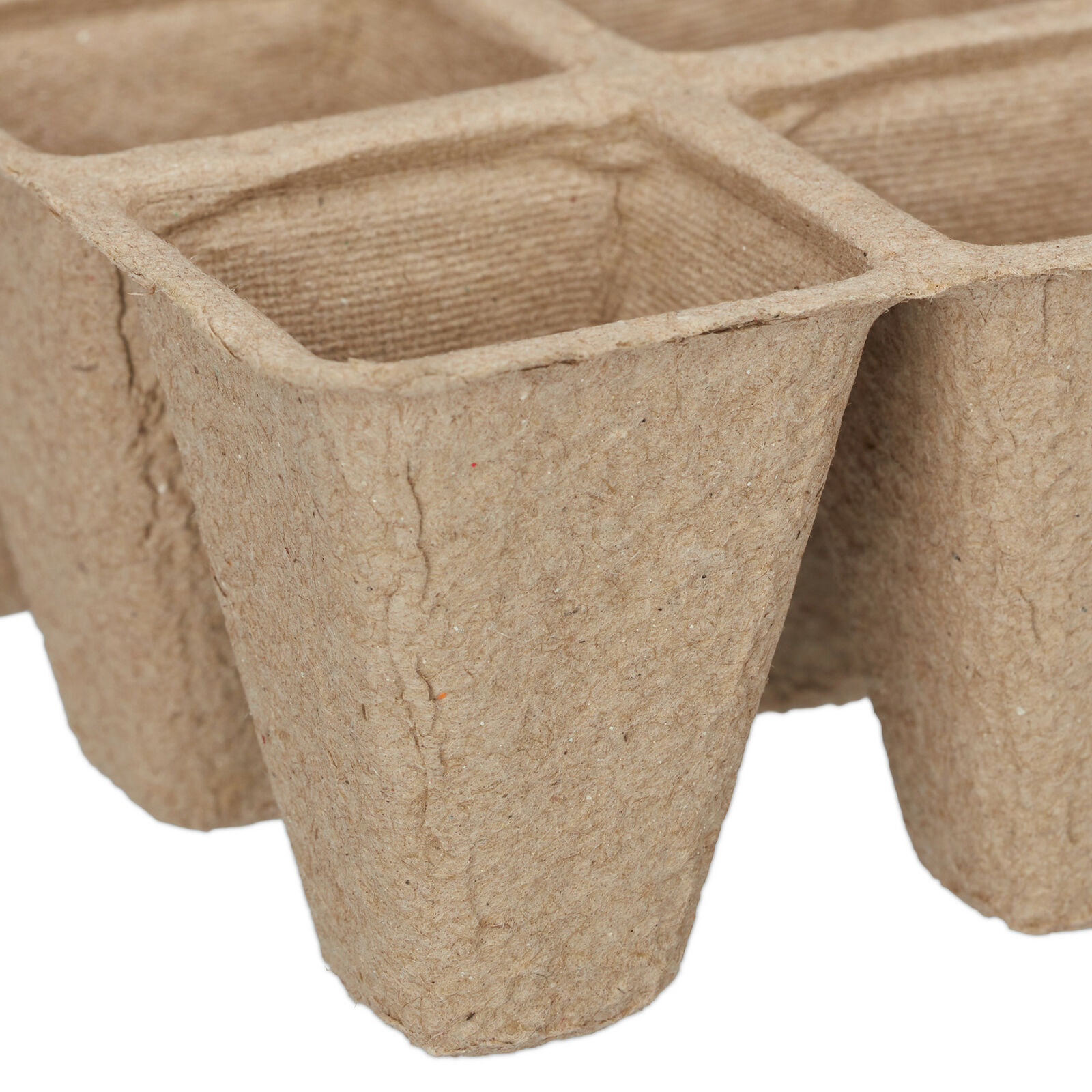 Fibre Plant Pots Tray for Seeds, Seedlings & Cuttings Biodegradable Square 5 cm