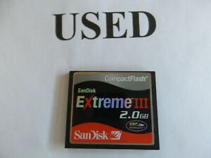 1-pc-2GB-small-scratches-SanDisk-Extreme-III-CF-I-compactflash-for-Nikon-Canon