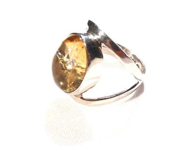 Bijou silver 925 bague cabochon topaze yellow size 55 ring