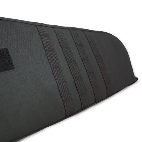 140cm IMBOTTITO SOFTAIR CACCIA TATTICO FUCILE trasportare SLIP CASE BAG PACK NERO