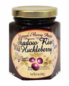Shadow-River-Wild-Huckleberry-Gourmet-Jam-8-oz-Jar-Fruit-Spread-Preserves