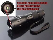 CREE ZY R650 LUXEON  ZOOMABLE FLASHLIGHT STROBE TORCH WHITE 5 MODES 3XAAA /18650