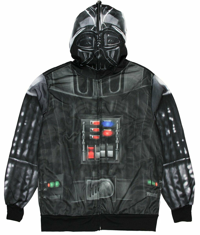 Star Wars Darth Vader Costume Zip Up Hoodie Sweatshirt