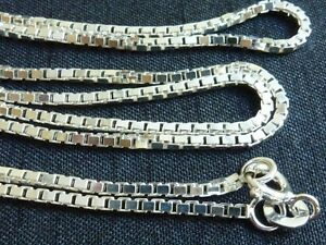 Sterling-silver-Box-chain-1-5mm-links-24-inch-necklace-jewelry-supplies-findings