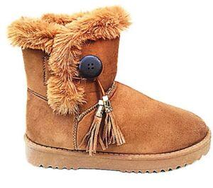 06401581f5a7a Femme Bottine Chaussure fourrées fur Plat chaud botte fille hiver ...
