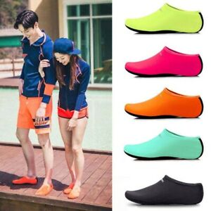 NEW-Men-Women-Barefoot-Aqua-Socks-Water-Shoes-Beach-Swim-Surf-Yoga-Slip-On-Shoe