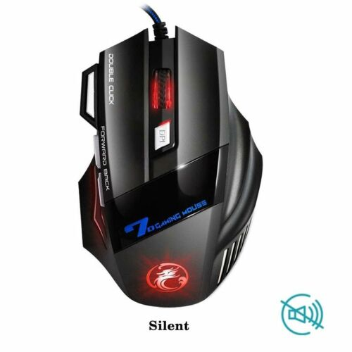Professional Wired Gaming Mouse 7 Button Optical USB Computer Gamer Mice Game