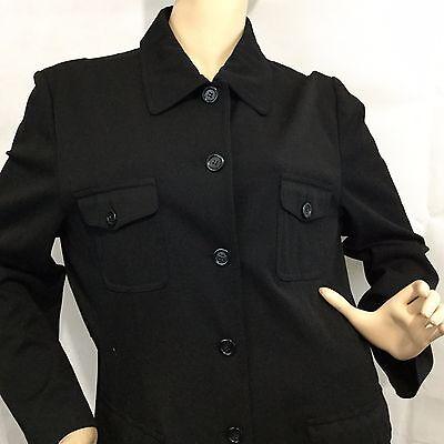 TALBOTS Stretch Sz 16 Jacket Blazer Career Black Casual Button Plus Modern