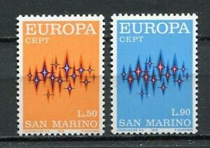 S27604) Dealer Stock San Marino 1972 MNH Europa 2v (X10 Sets)