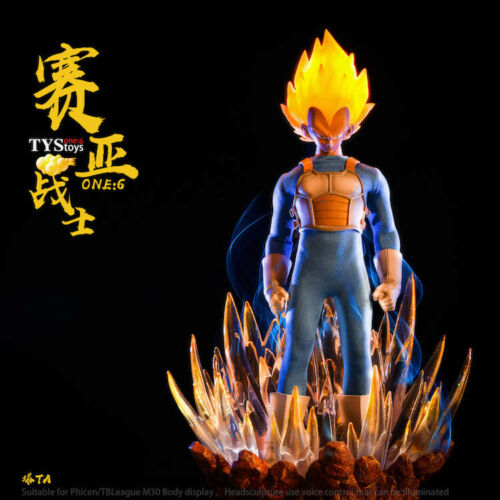 TYS cosplay 1//6 Dragonball Super Saiyan Vegeta Head /& Accessories Action Figure