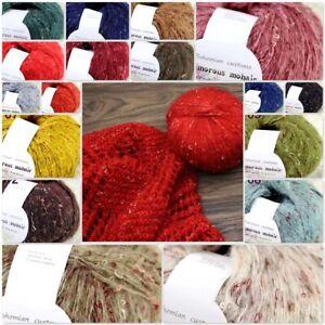 Sale-1Balls-X-50g-Luxury-Fluffy-Soft-NEW-MOHAIR-Shawls-Hand-Knit-Crochet-Yarn-UK