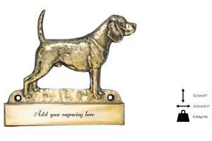 Beagle - Plaque De Laiton Avec Un Chien 'welcome' Art Dog Fr Type 2