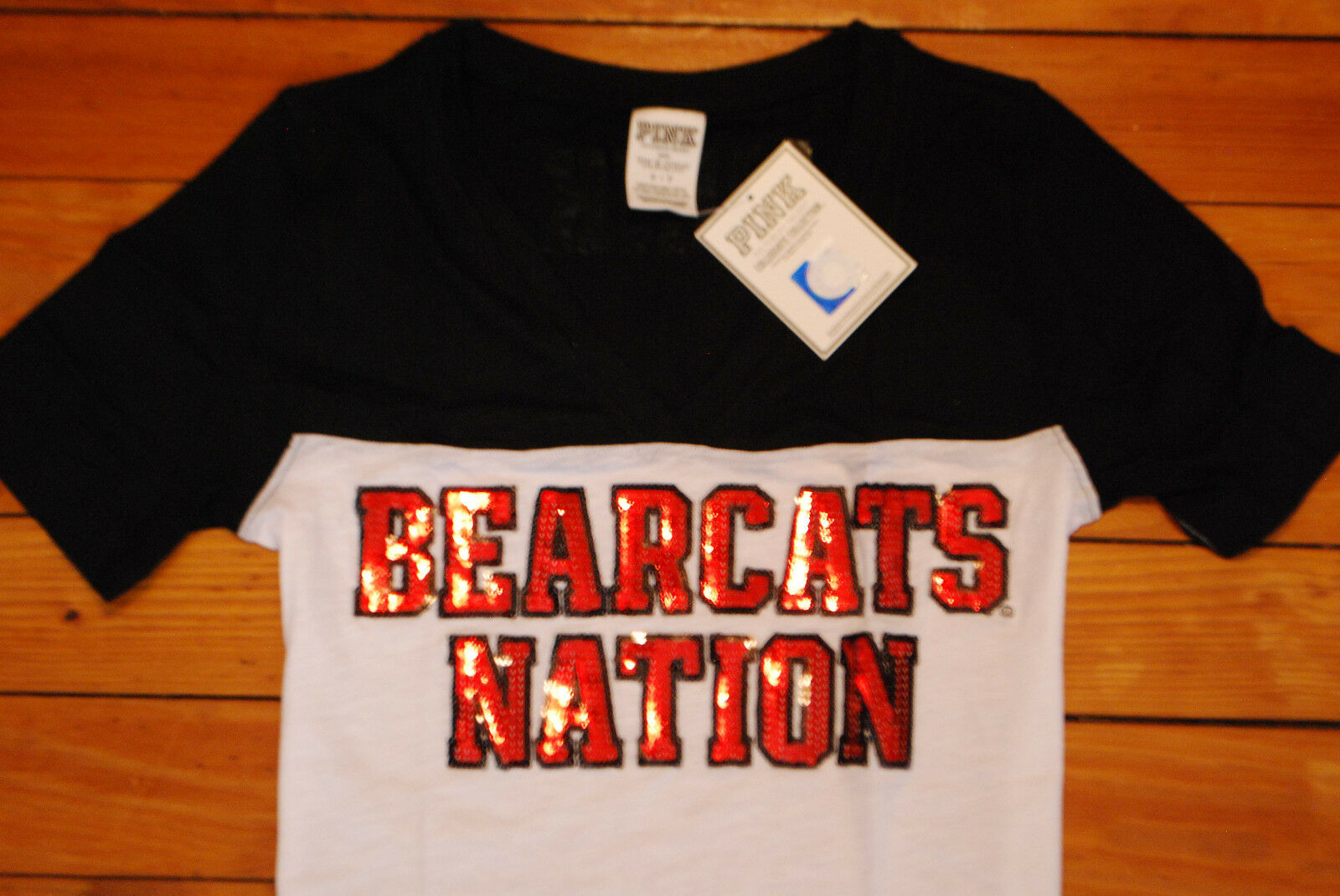 NEW Victoria's Secret VS Rosa Cincinnati  Bearcat Nation  Bling T-Shirt (Small)