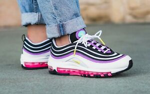 Details about Nike Air Max 97 White Dynamic Yellow Pink 921733 106 Running Shoes Women's NEW