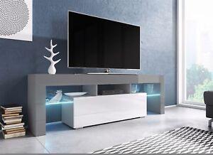 Das Bild Wird Geladen TV Board Lowboard TORIS Grau Weiss Hochglanz 138cm
