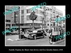 OLD LARGE HISTORIC PHOTO NORFOLK VIRGINIA, THE MASTERS ESSO GAS STATION c1950