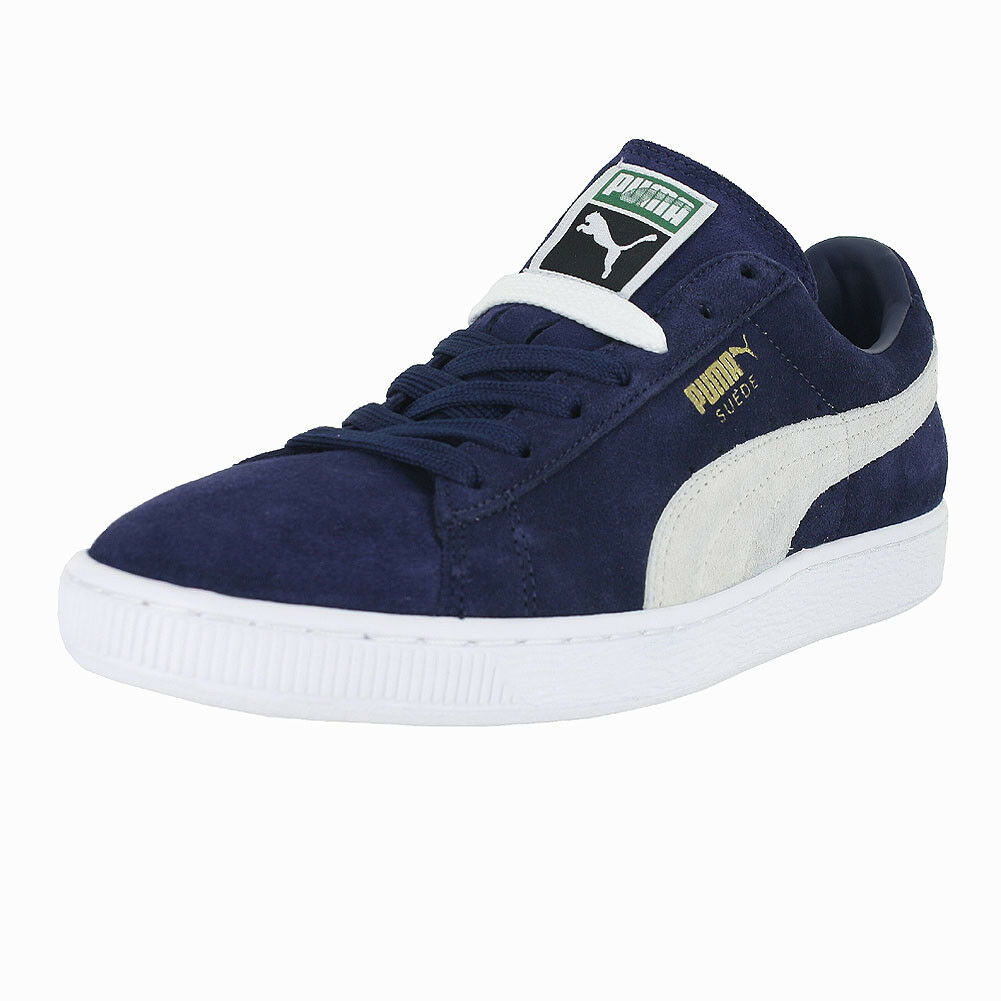 PUMA SUEDE CLASSIC+ PEACOAT Blanc 356568 51 Homme US Taille