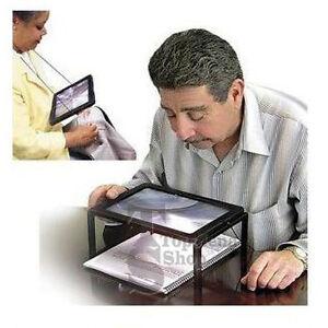 Lente ingrandimento a led da tavolo collo luce supporto lettura a pile ebay - Lente ingrandimento da tavolo ...