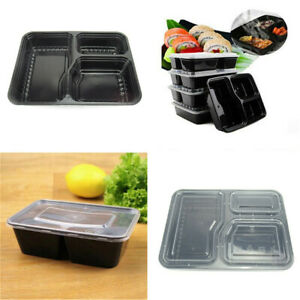 1-2-5pcs-Meal-Prep-Food-Containers-Compartment-Lunch-Box-Microwavable-With-Lids