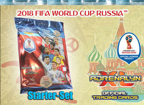 10 Blister 10 Multipack Panini FIFA World Cup Russia 2018 STARTER-SET